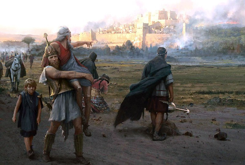 a representation of piety and duty in the hero aeneas The hero aeneas appears in both greek and roman mythology generally, aeneas represents duty and piety, but some authors have portrayed him less favorably.