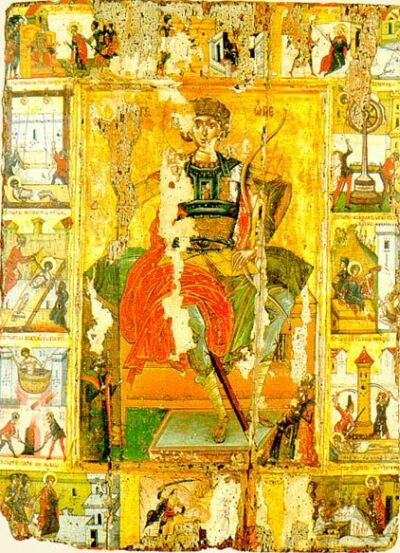 Saint George. Late XVI century. Mount Athos, Saint Paul monastery